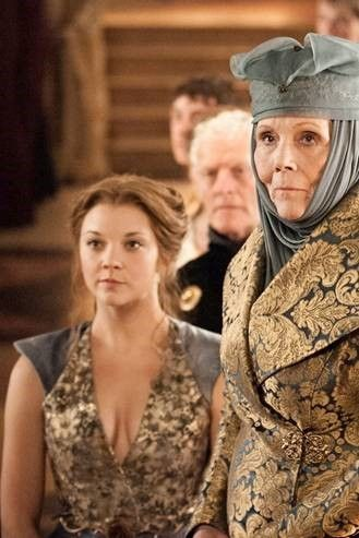 Game of Thrones,  Far right Olenna Tyrell - Rubelli coat. Fabric - 19971-05 Tebaldo