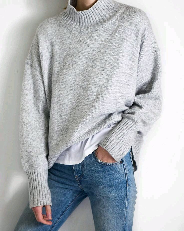 I purchased an inexpensive marled knit version of this mock neck sweater at Old Navy.I love sweater weather !!!