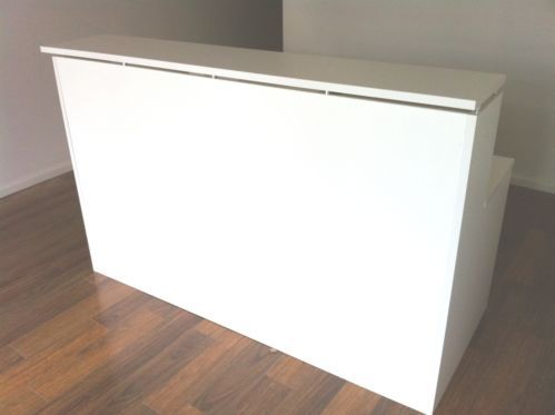1500w White Reception Desk Parchment Counter Office Furniture In Melbourne Vic Ebay