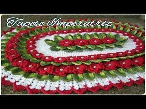 "Tapete Imperatriz - ""Marcia Rezende - Arte em Crochê"" - 1/3 - YouTube"