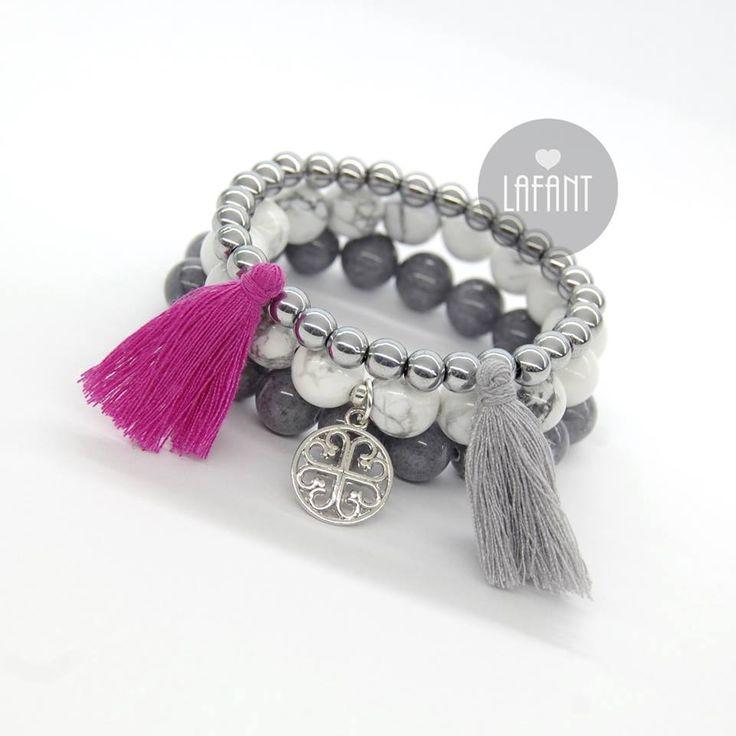 Bracelets / boho style / natural stone / blogger / fashion