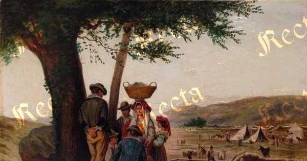 Olio su tavola 26cm x 35.5cm  ♦  Recta Galleria d'arte -  Roma - Pittori e dipinti dell'ottocento e novecento, arte e scultura 800 e primo 900