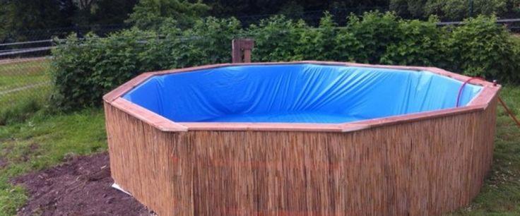 Je zwembad zelf bouwen met paletten voor amper €120!