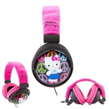 Hello Kitty Foldable Plush Headphones
