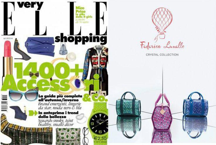 Very Elle A/I 2013/14 - ADV in Very Elle www.federicalunello.com #federicalunello #bags #accessories #madeinitaly #handmade