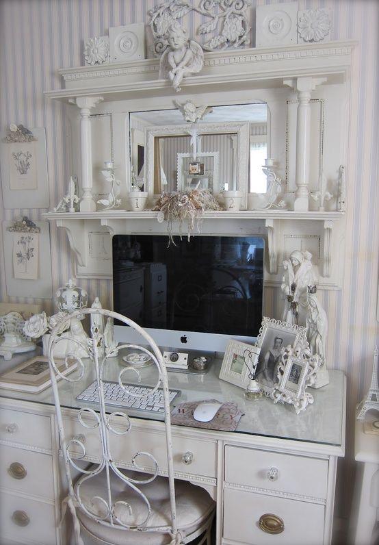 outstanding shabby chic office | 134 best Shabby Chic Office & Desks images on Pinterest