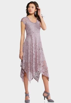 fadfd35f5867b3 Cato Fashions Plus Size Lace Hanky Hem Dress #CatoFashions | Flower ...