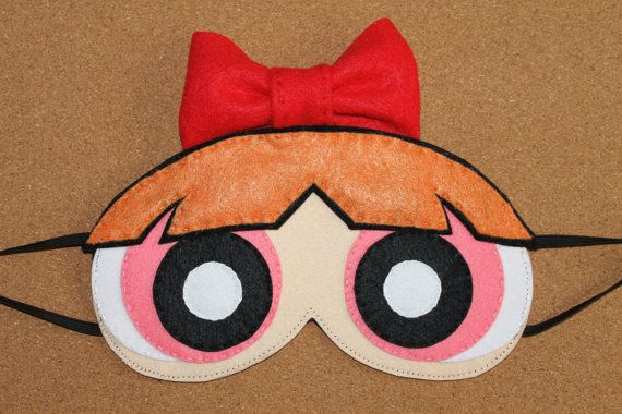 Powerpuff Girls Blossom Sleep Mask / Eye Mask by OmiPop on Etsy