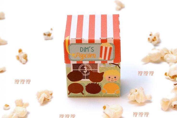 Popcorn doosjes gevouwen van 'de Ontwerpwinkel' | © Papiergoed