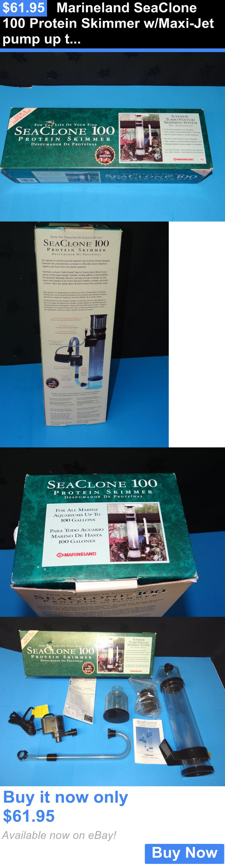 Animals Fish And Aquariums: Marineland Seaclone 100 Protein Skimmer W/Maxi-Jet Pump Up To 100 Gallons BUY IT NOW ONLY: $61.95