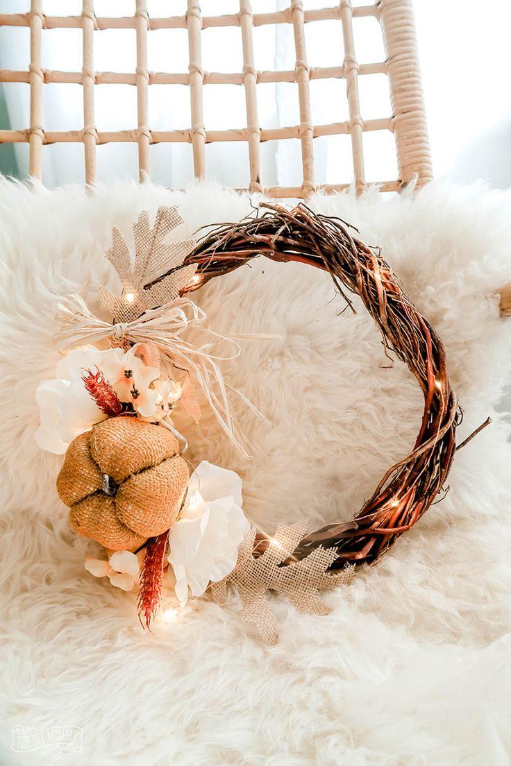 Diy Fall Wreath, Fall Diy, Fall Wreaths, Burlap Wreaths, Wreath Ideas, Grapevine Wreath, Christmas Wreaths, Diy Home Crafts, Fall Crafts