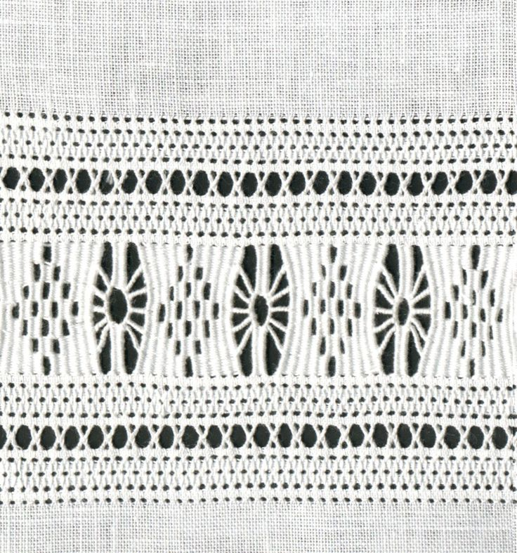 Drawn thread border pattern Merkmale « Luzine Happel