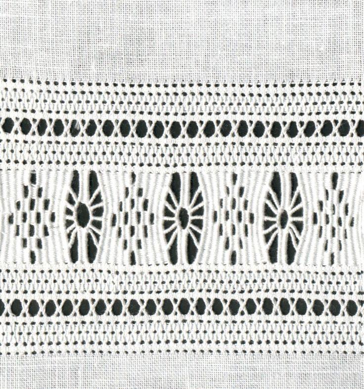 Drawn thread border pattern Merkmale « Luzine Happel