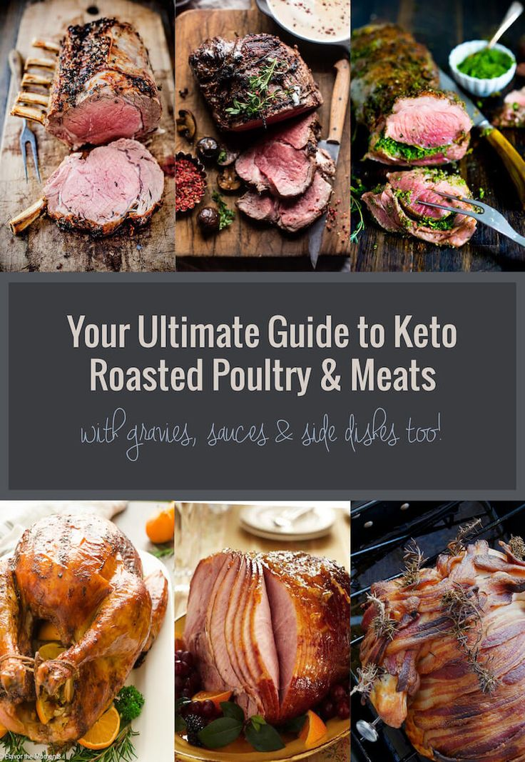 This is the ultimate guide to Keto roasted turkey & meat! We've got turkey, beef, ham, pork, lamb, and other poultry & wild game! Also keto gravy & sauces!