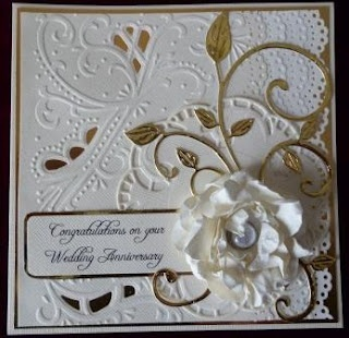 Wedding Anniversary Cards with folders and dies that I have