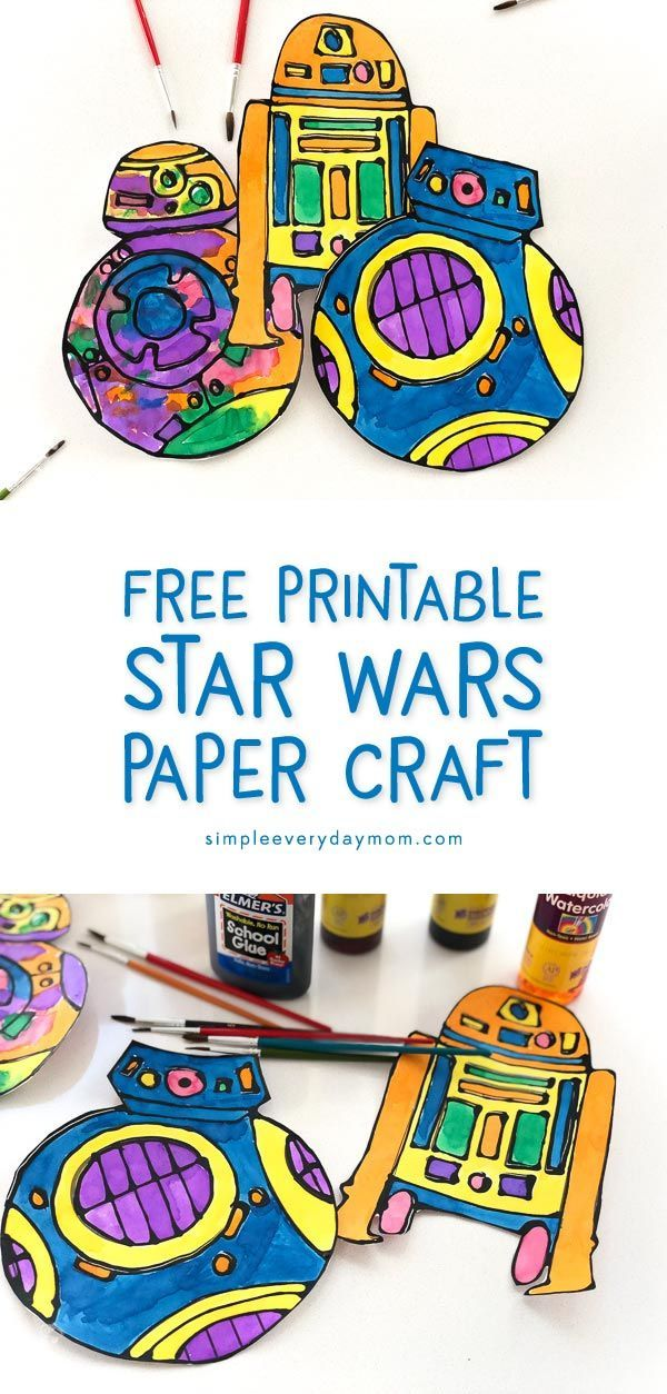 This Colorful Star Wars Paper Craft Will Banish Boredom Star Wars