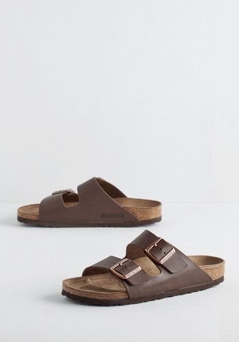 Strappy Camper Sandal in Brown | Mod Retro Vintage Sandals | ModCloth.com