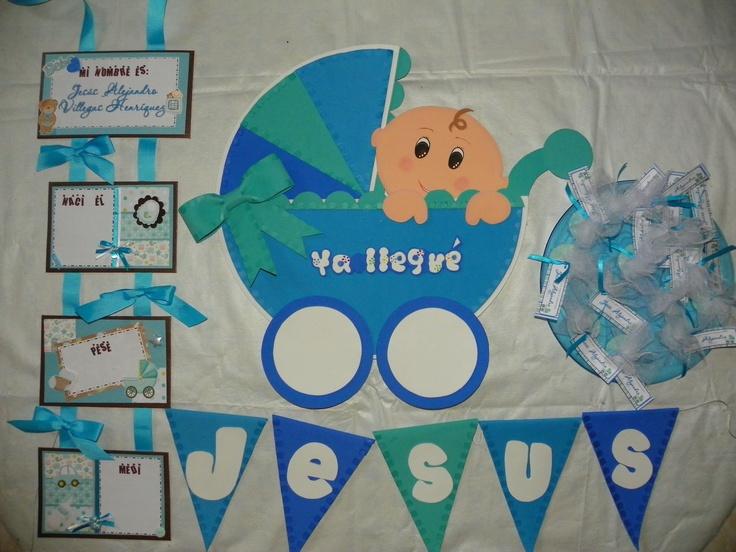 Bienvenida al beb consta de bander n con nombre adorno - Adornos para bebe recien nacido ...