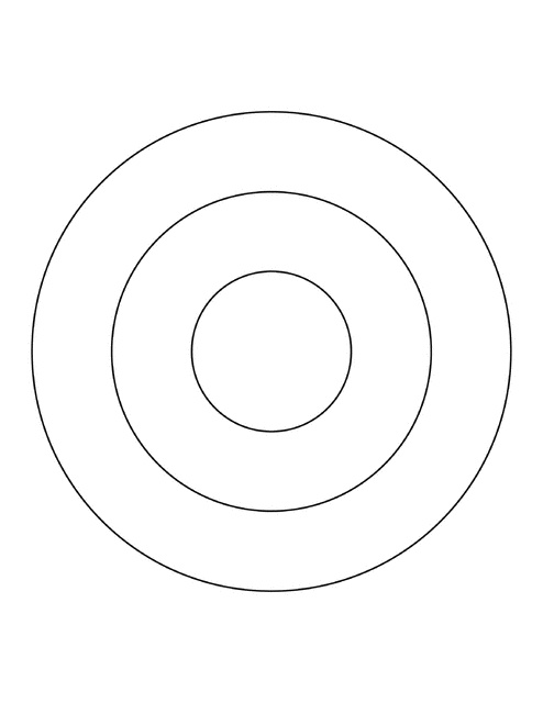 three concentric circles