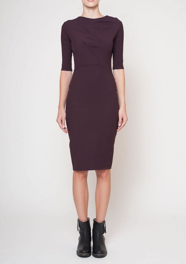 bamboo pattern fitted dress