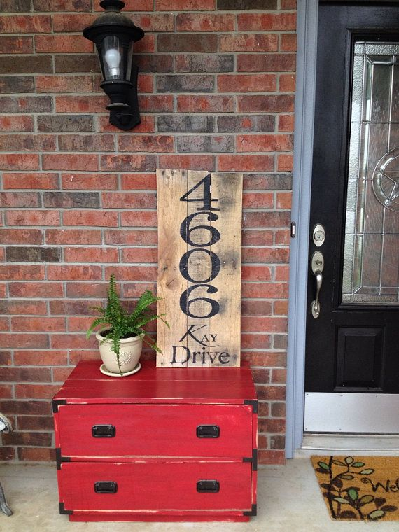 Address Sign made out of recycled Pallets on Etsy, $47.00