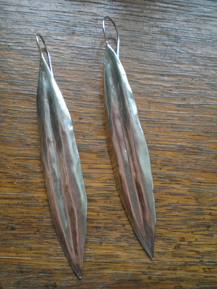 Olive leaf Earrings. Sterling Silver