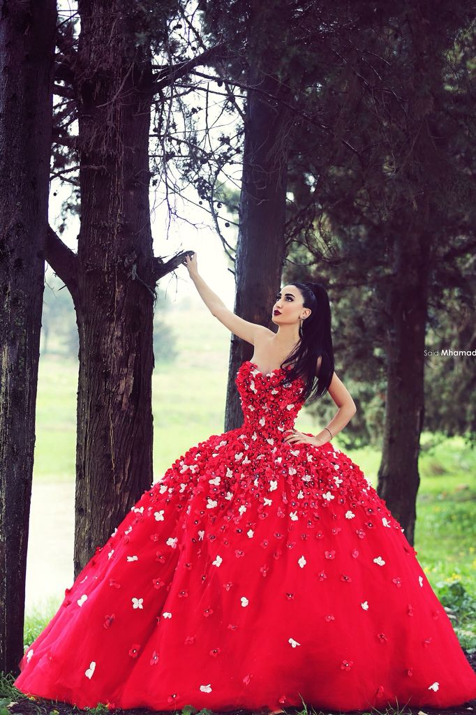 Red Flower Dress By Eden Couture Captured By Said Mhammad