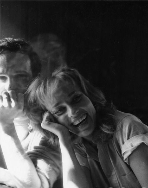 François Truffaut and Jeanne Moreau photographed by Peter Basch on the set of Jules et Jim, 1961