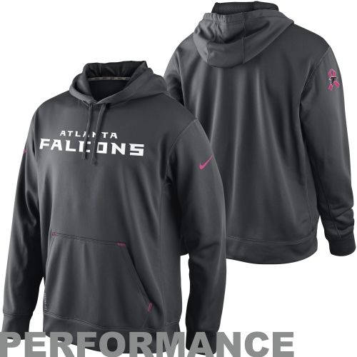 7cd3047ed ... NFL Nike Atlanta Falcons Breast Cancer Awareness Performance Pullover  Hoodie - Charcoal ...