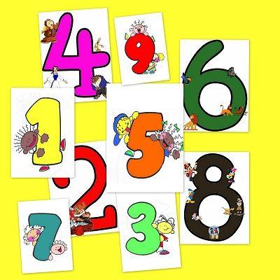 Recursos para el aula; Los números del 1 al 9
