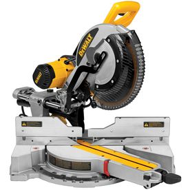 DEWALT - #DWS780, 12-in 15 Amp Dual Bevel Slide Compound Miter Saw = $600 @ http://www.lowes.com/ProductDisplay?productId=3441818  = $550 @ http://www.homedepot.com/p/DEWALT-15-Amp-12-in-Sliding-Compound-Miter-Saw-DWS780/202922350#.UiUpWlrn_RY