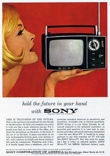 1960s Advertising - Magazine Ad - Sony (USA) by Pink Ponk, via Flickr