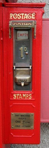 Old postage stamp vending machine. This one only dispensed penny stamps.