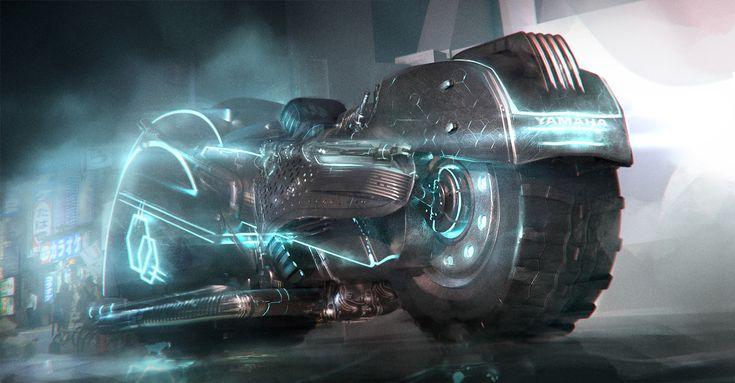 ArtStation - Cyberpunk motorbike, carmen cornet