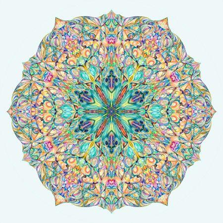 12x12'' Peaceful Mandala Art Snowflake by NewEarthMandala on Etsy