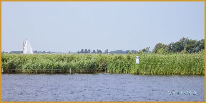 A photo taken on a bike ferry. There was quite some wind. See that traffic sign? It's for boats and ships. Want to see this yourself? Join me on a #cycle #tour #SouthHolland http://veritasvisit.nl