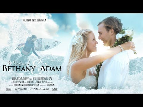 ▶ Bethany Hamilton & Adam Dirks | Fairytale Hawaii Wedding - YouTube {this is the sweetest couple and such an inspiring story!}