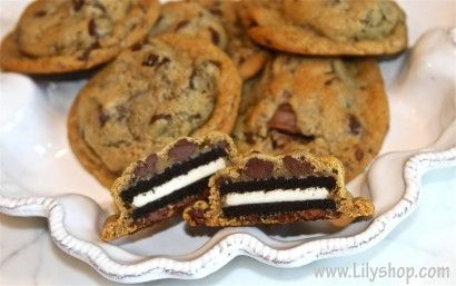 WOW... My mouth is watering.: Oreo Chocolates, Cookies Chocolates, Chocolate Chips, Chocolates Chips Cookies, Yummy Food, Cookies Cookies, Chips Oreo, Oreo Cookies, Deep Fries Oreo