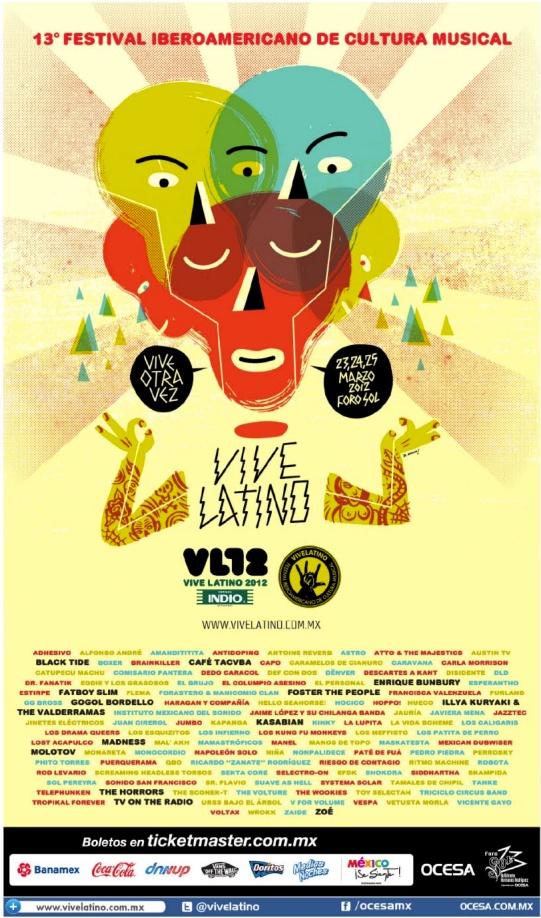 Francisca Valenzuela, Javiera Mena, Pedropiedra, Astro y Dënver son parte del Vive Latino 2012