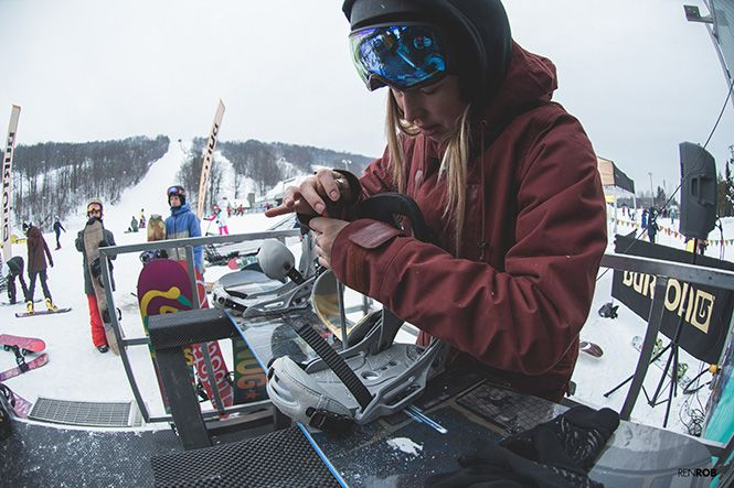 A few weeks ago, our friends up north hosted a Burton Girls Ride Day in Mont Avila, one of the stops on the Canadian Burton Mountain Festival Tour. A posse of roughly 40 French Canadian ladies met up, set up, roasted some marshmallows, and headed out for the day. After a solid session of slashes, park laps, countless high fives, and what looks like a lot of fun, the day wound down with a proper après at Gusto Cafe. Friendships were made, numbers were exchanged, and everybody seemed stoke to…