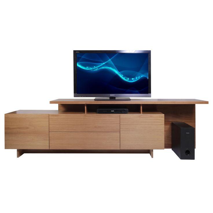 Mueble de TV Lotus en cedro natural. Medidas 230x65x40 Cajones con correderas telescopicas www.forbidan.com.ar