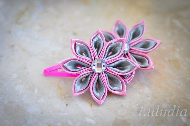 Spinka spinki gumki kanzashi - luludia-foto - Spinki do włosów dla dzieci