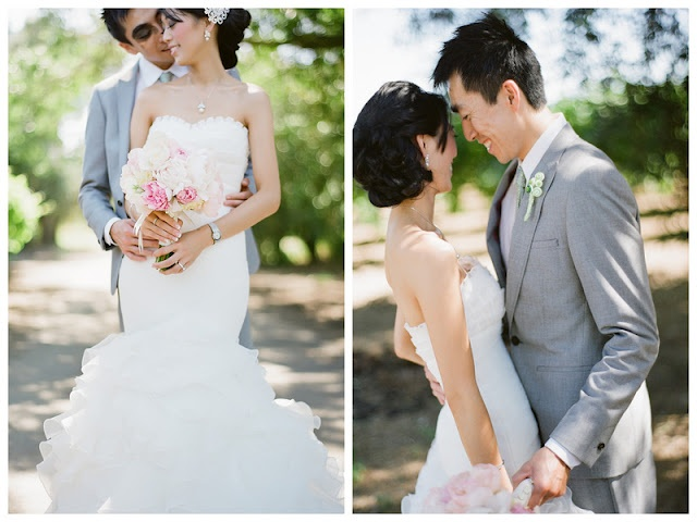 such a sweet couple! | Mint and Pink Vintage Storybook Wedding on Oh Lovely Day | photos by Tauran Photography and LKC Studios