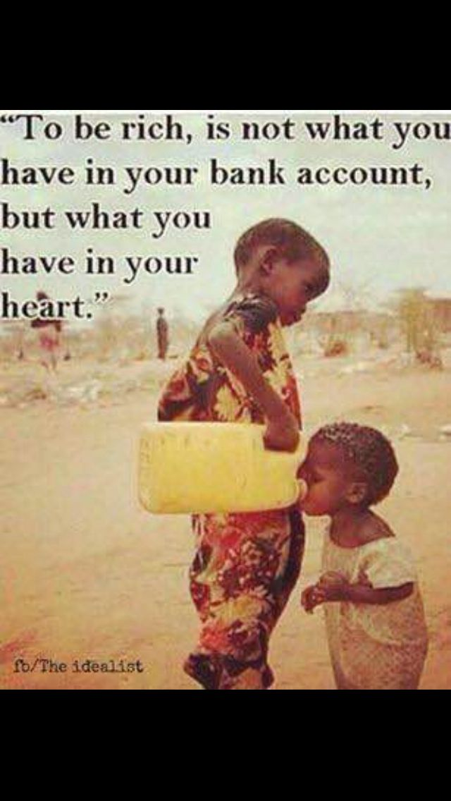 It's what's in your heart....