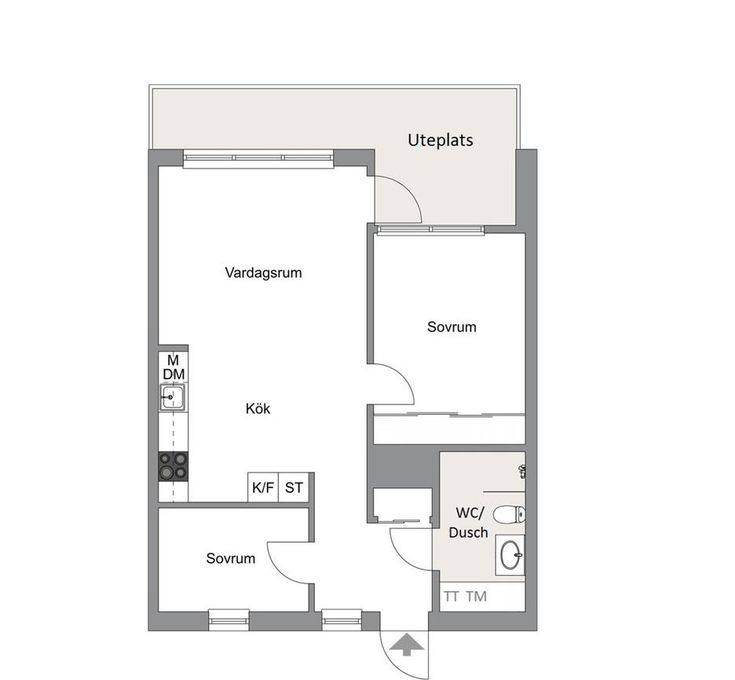 Perfect 2 Bedroom, 1 Bath In 60 M2