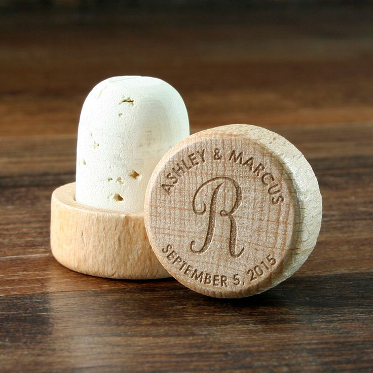 Wine Stopper Bulk Personalized Wood Top Cork Engraved, Wedding Favor or Wedding Gift, T-Corks, Customized Wine Cork by EventCityDesign on Etsy https://www.etsy.com/listing/230732798/wine-stopper-bulk-personalized-wood-top