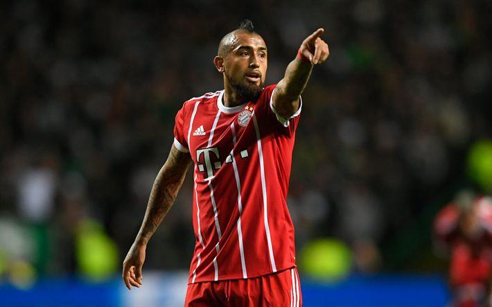 Download wallpapers Arturo Vidal, match, footballers, Bayern Munich, Bundesliga, soccer, football