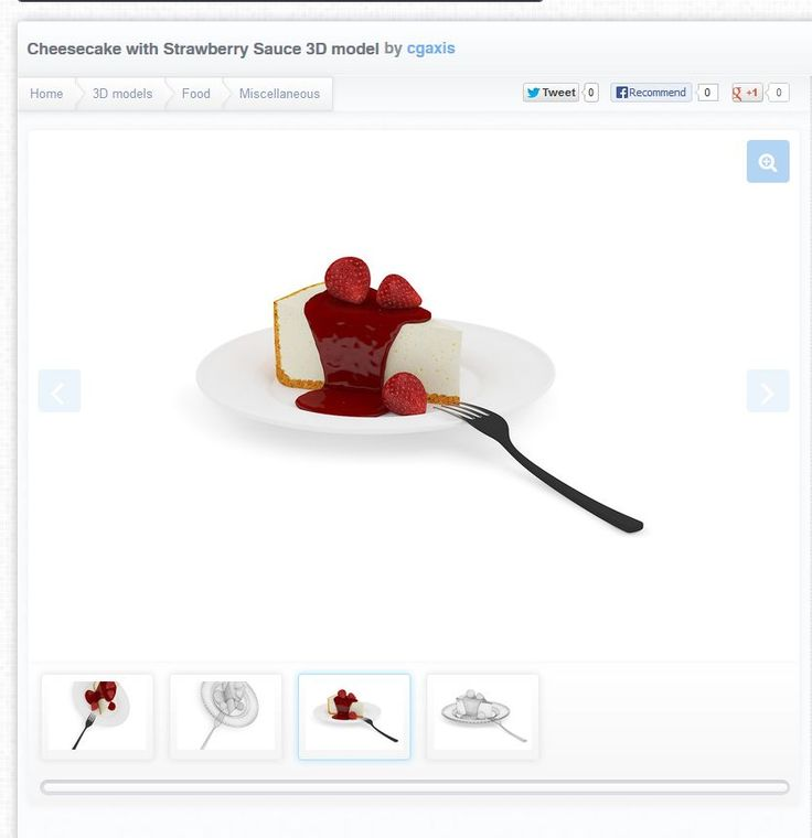 http://www.cgtrader.com/3d-models/food/miscellaneous/cheesecake-with-strawberry-sauce