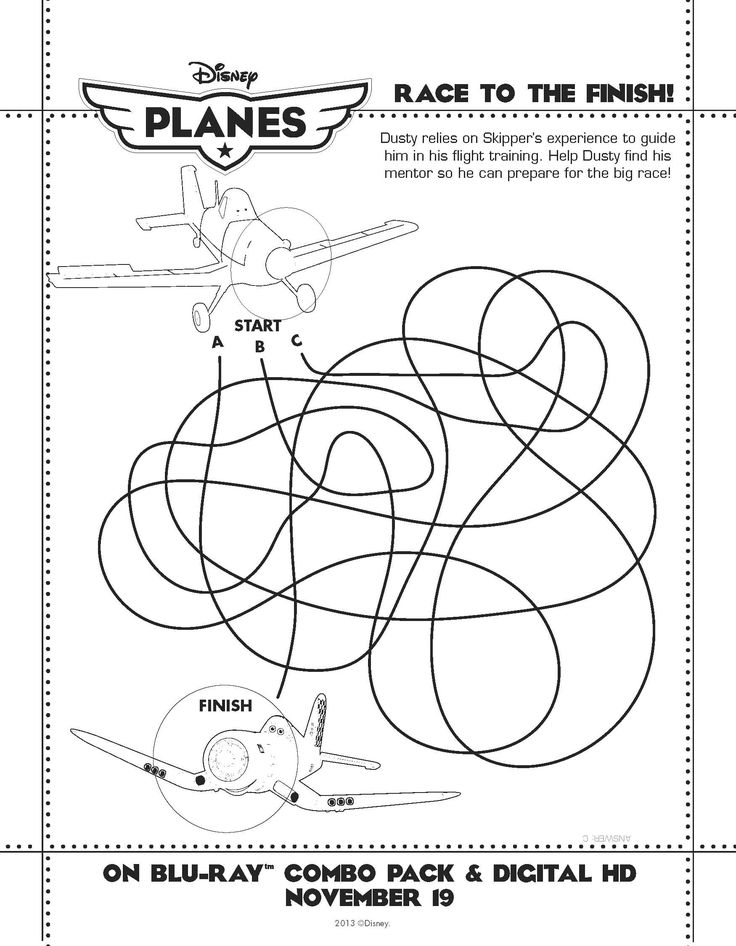disneys planes activity sheet - Kids Activity Printables