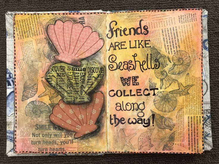 friends are like seashells we collect along the way practice journal